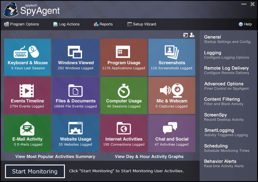 Worried about how others are using your computer? SpyAgent is the ultimate all-in-one, computer monitoring solution that can log all keystrokes, emails, websites, applications, internet connections, chats, emails, and more - invisibly.